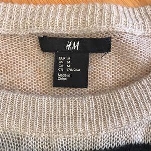 H&M Sweaters - 3/$22 H&M Black & Tan Stripe Crew Sweater Sz M